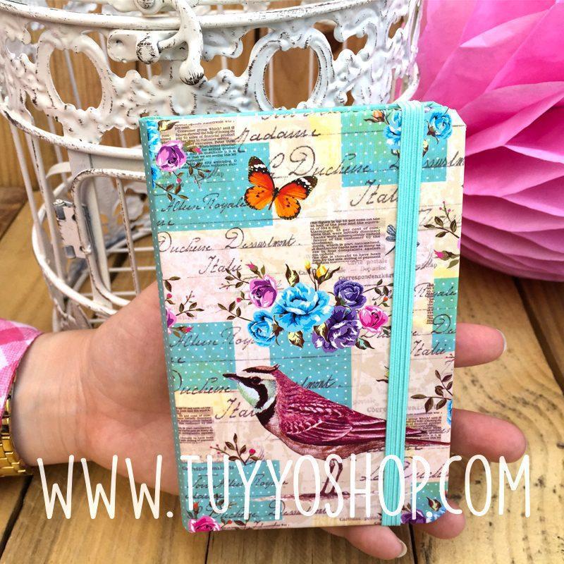 libreta diseño mariposas