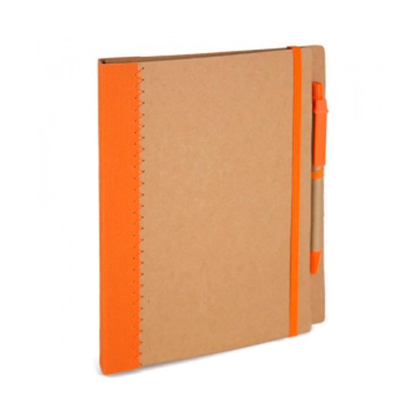 Libreta forma carpeta de cartón reciclado varios colores. A5. 70 hojas