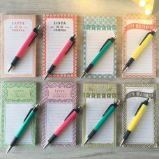 Libreta imantada lista de la compra con bolígrafo