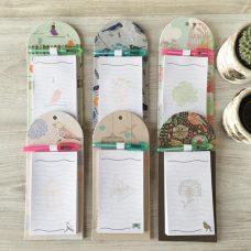 Libreta lista de la compra con imán Birds