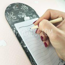 Libreta lista de la compra con imán