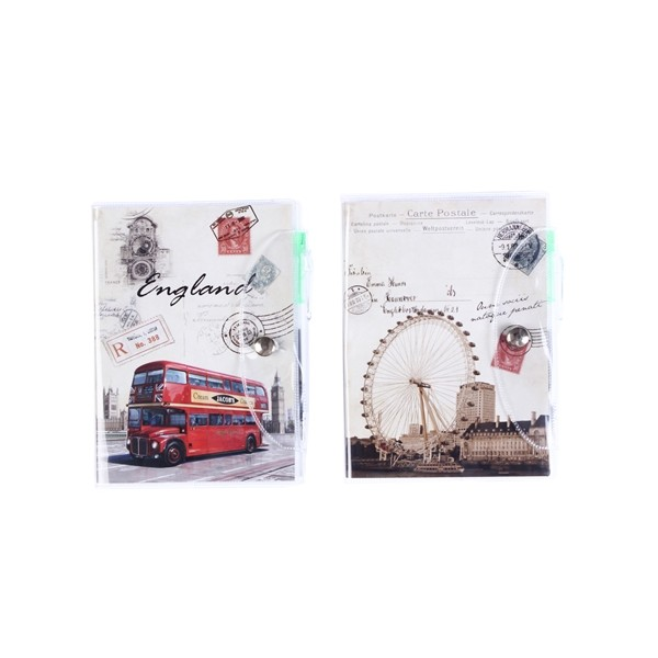 "Libreta para notas, diseño ""postale"" libreta notas pvc postale"