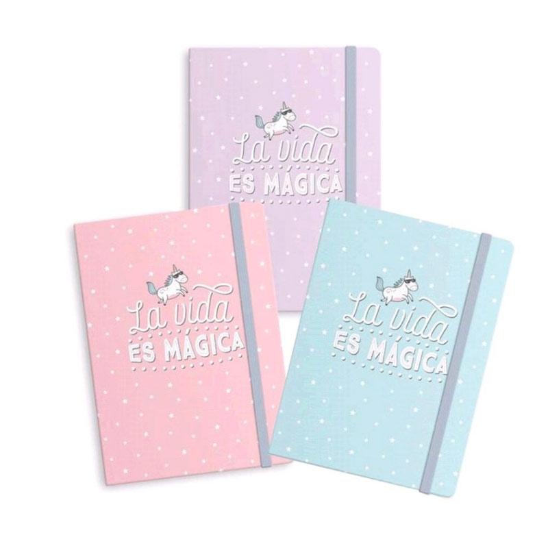 Nueva libreta para boda. Unicornios. La vida es mágica. 3 colores. A6
