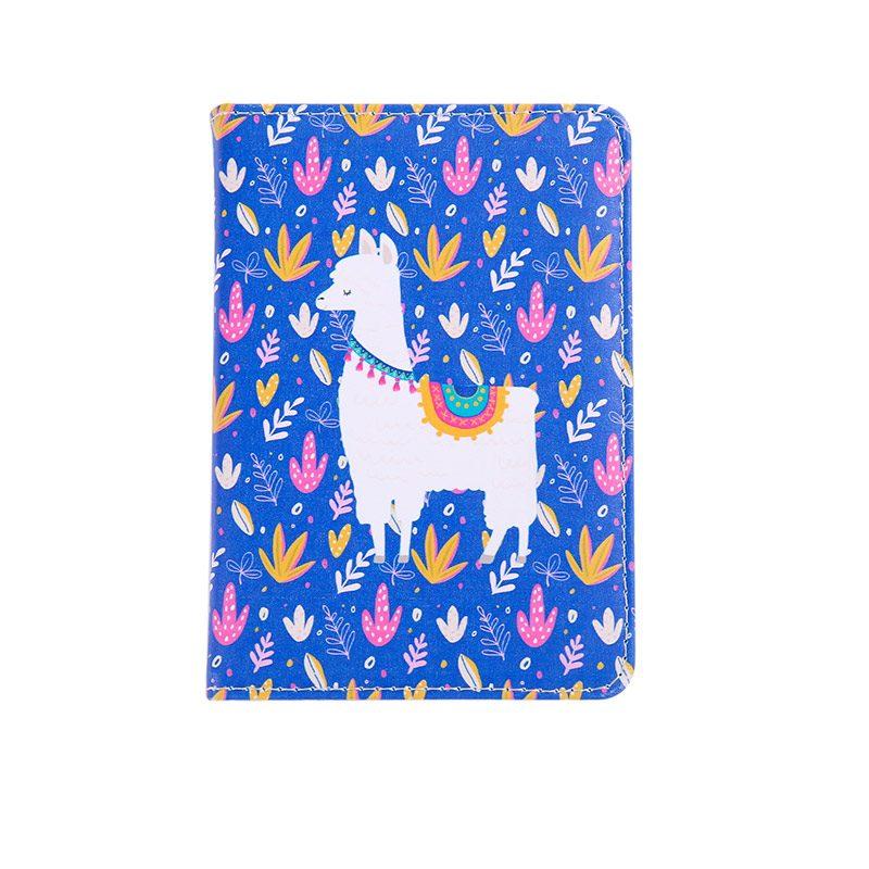 Libreta con cierre. Estampado floral y diseño de llama. 4 colores.