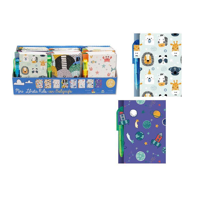 Libreta con bolígrafo modelo Kids. 8 diseños. libreta para ninos modelo kids2