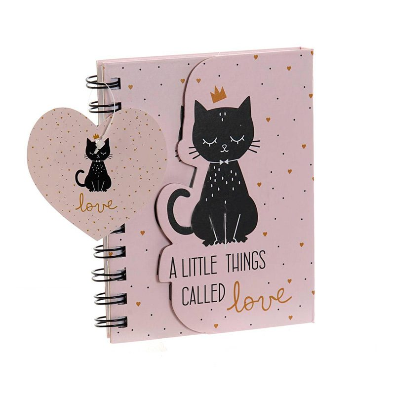 Libreta para regalo, Love Black Cats . 80 hojas