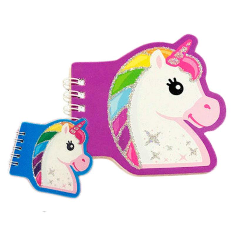 Libreta infantil en forma de unicornio. Detalles de comunión.