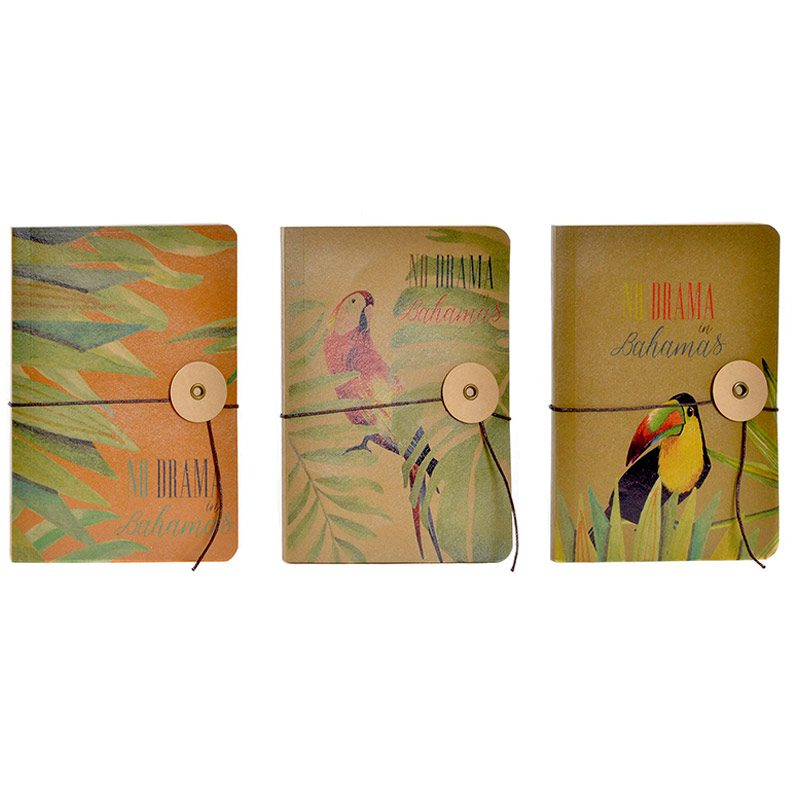 Libreta Vintage Bahamas. 40 hojas. 3 modelos