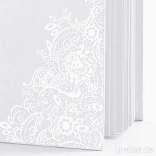Libro de firmas Blanco y Plateado
