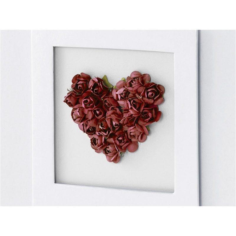 Libro de firmas para boda. Corazón rojo.