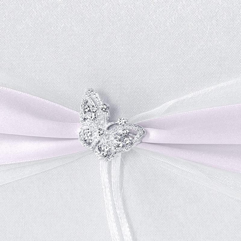 Libro de firmas para boda. Mariposa pedrería.