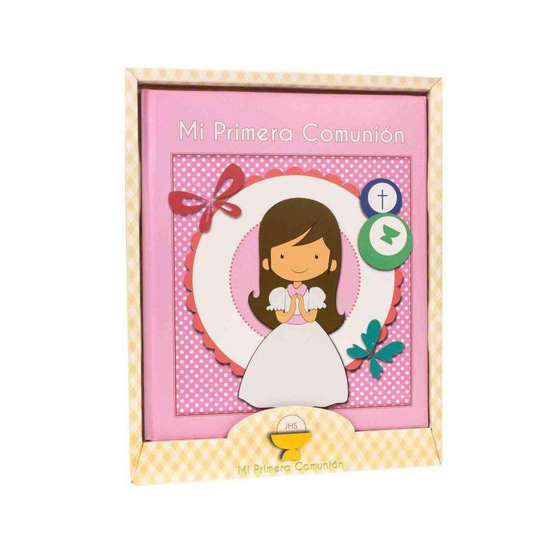 Libro de comunión modelo chica. Presentado en caja. 29x24cm