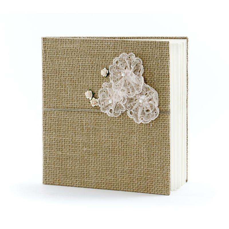 Libro de firmas Flores de encaje