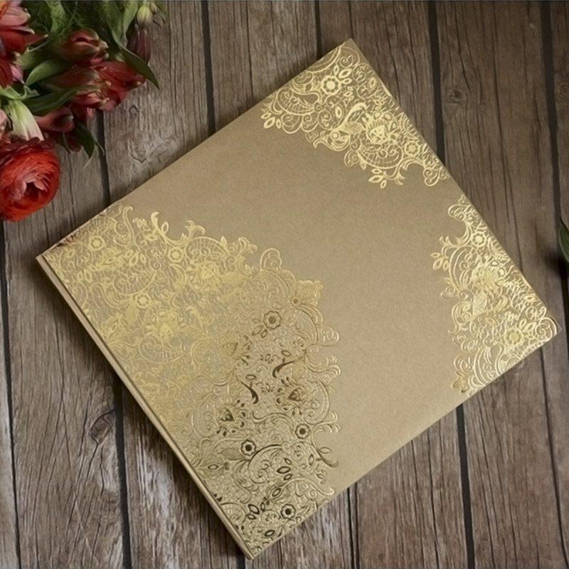 Libro de firmas Kraft y Dorado