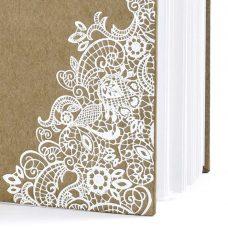 Libro de firmas Kraft y Blanco