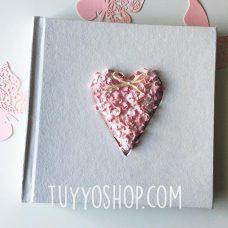 Libro de firmas modelo Corazón