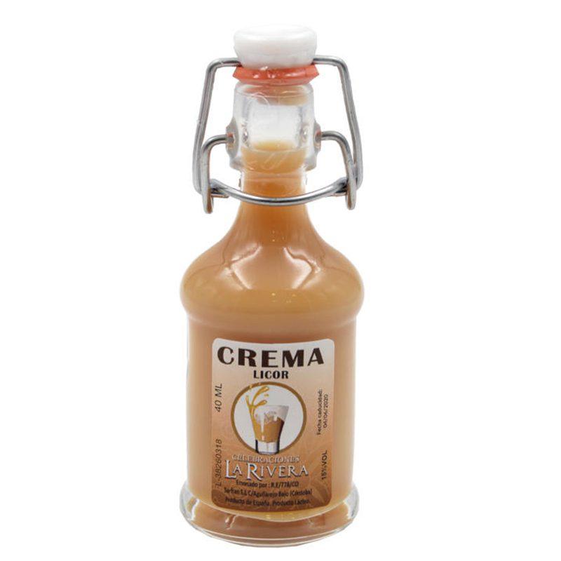 Botella de orujo modelo sifón, sabor crema. licor modelo sifon crema
