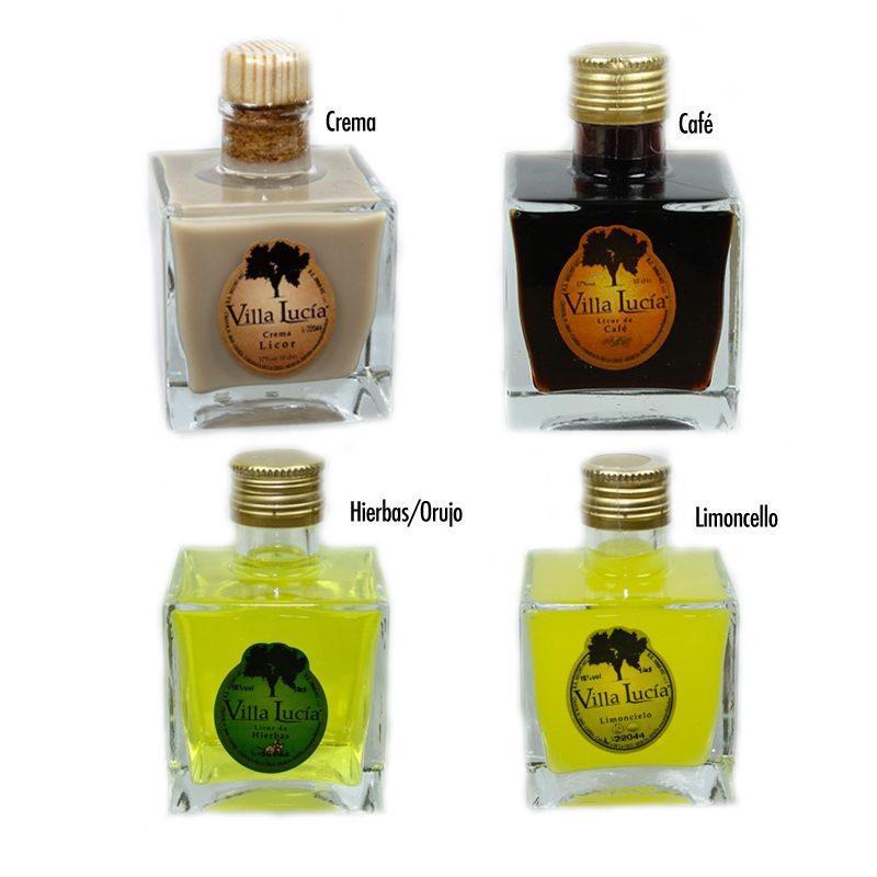 Licor de orujo modelo Zafra, sabor hierbas, 100ml licor modelo zafra