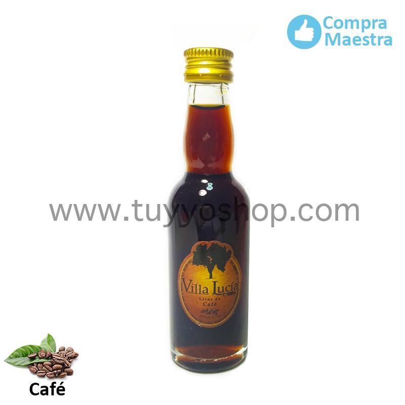 Licor de orujo para boda modelo botella jerezana en sabor café
