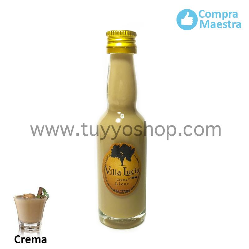 Licor de orujo para boda modelo botella jerezana en sabor crema