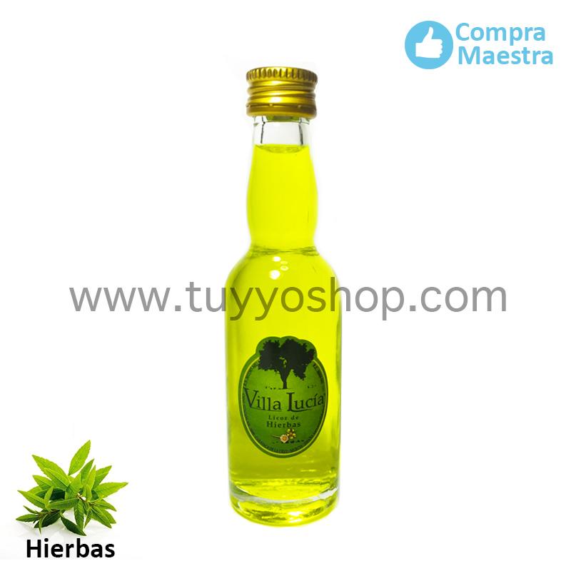 Licor de orujo para boda modelo botella jerezana en sabor hierbas