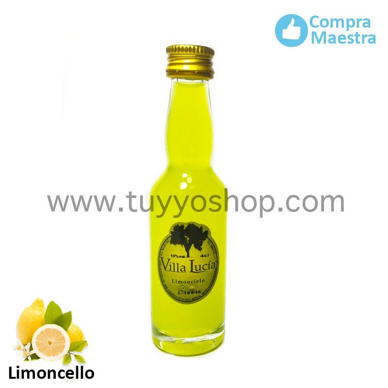 Licor de orujo para boda modelo botella jerezana en sabor limoncello