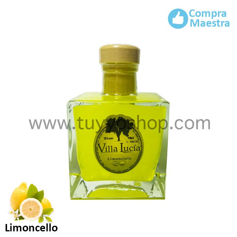 Licor de orujo Villa Lucia, sabor limoncello modelo zafra