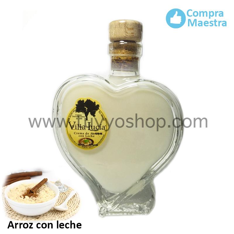 licor de orujo villa lucia modelo cuore, sabor arroz con leche