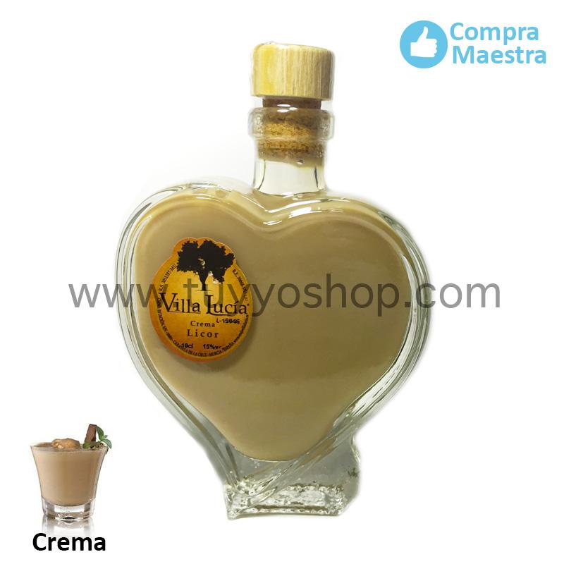 licor de orujo villa lucia modelo cuore, sabor crema