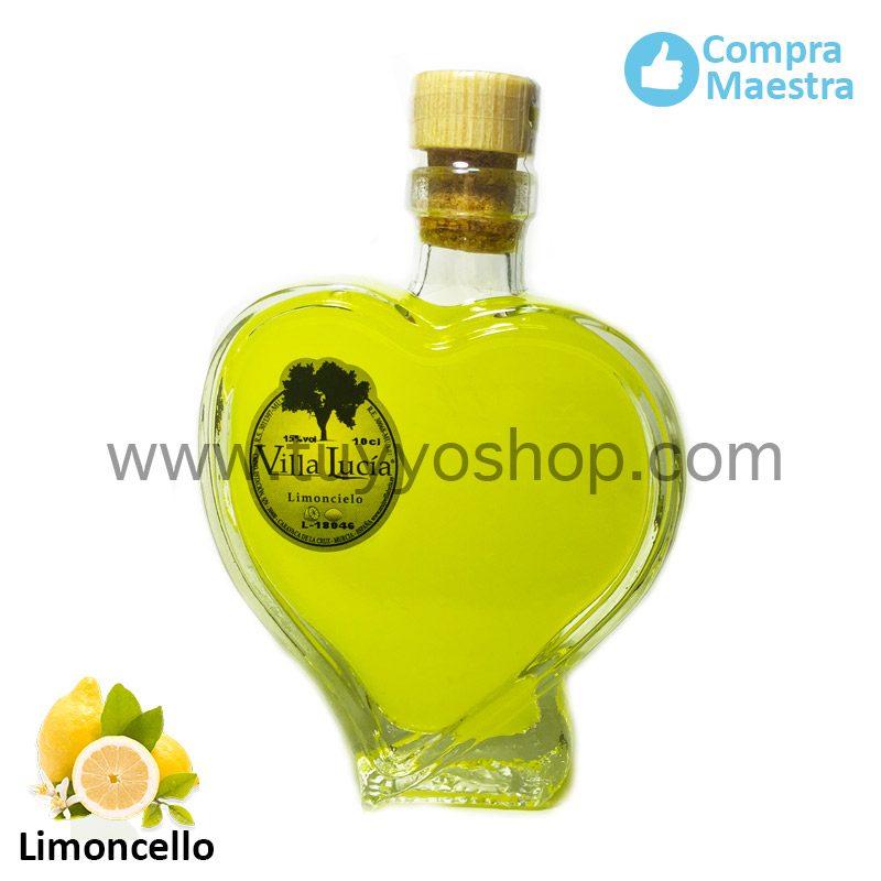 licor de orujo villa lucia modelo cuore, sabor limoncello