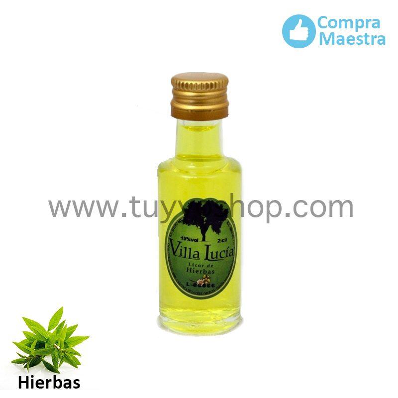 Licor de orujo mini en sabor hierbas