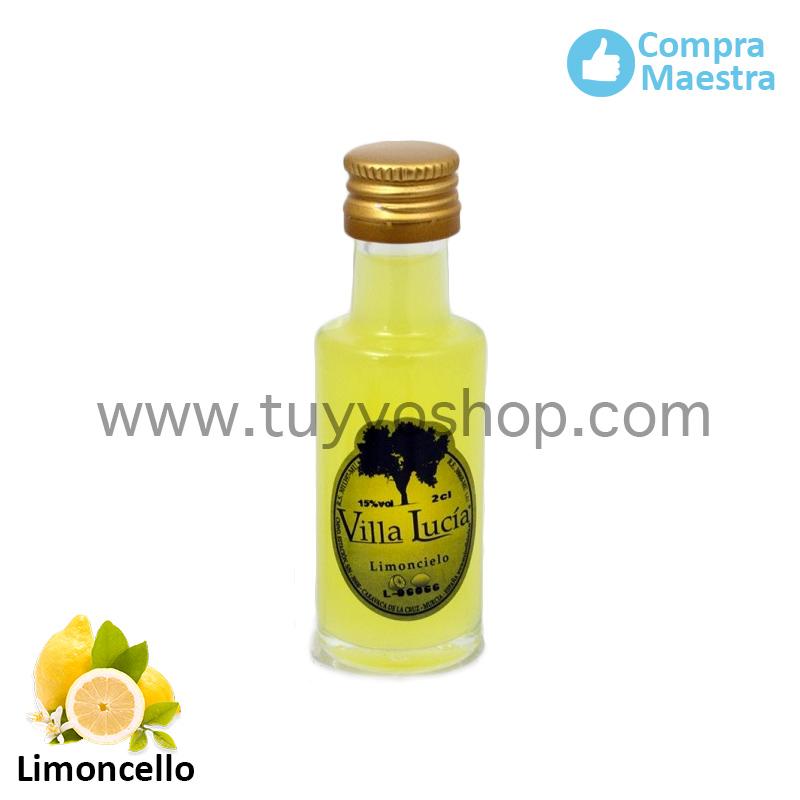 Licor de orujo en formato mini y sabor limoncello