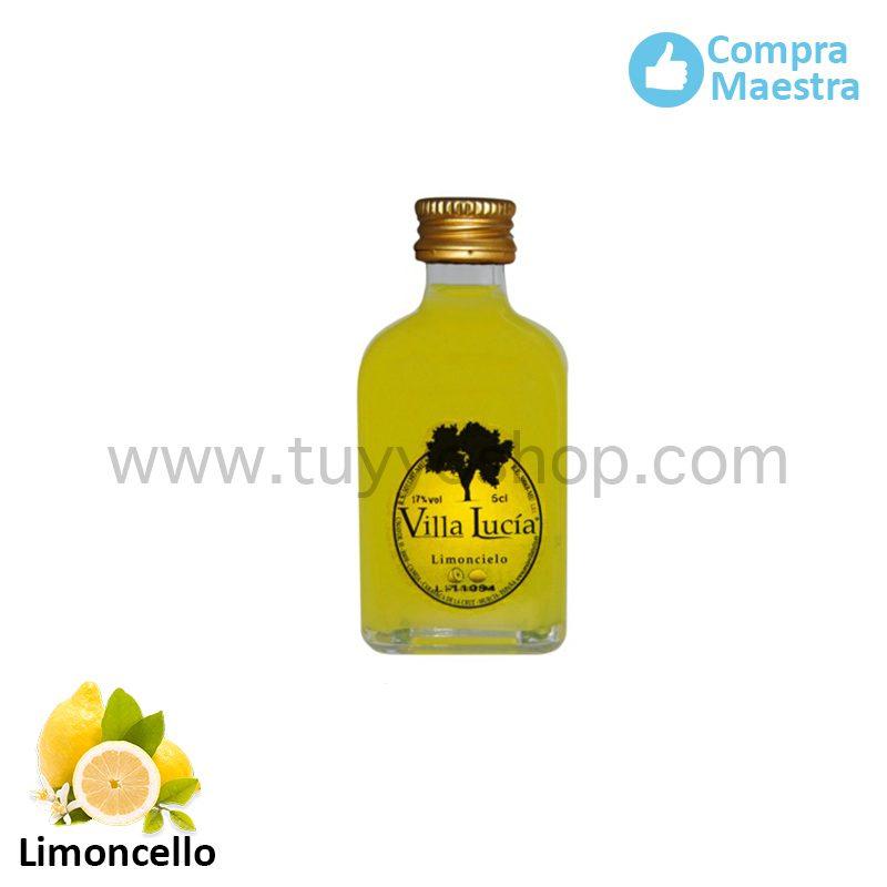 licor de orujo modelo mini sabor limoncello