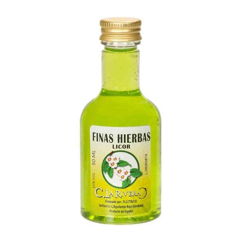 Licor de finas hierbas. La Rivera. 50ml.