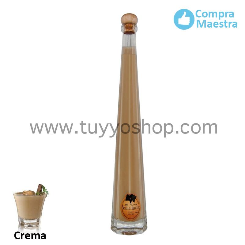 Licor de orujo Villa Lucía modelo Lobón, sabor crema.