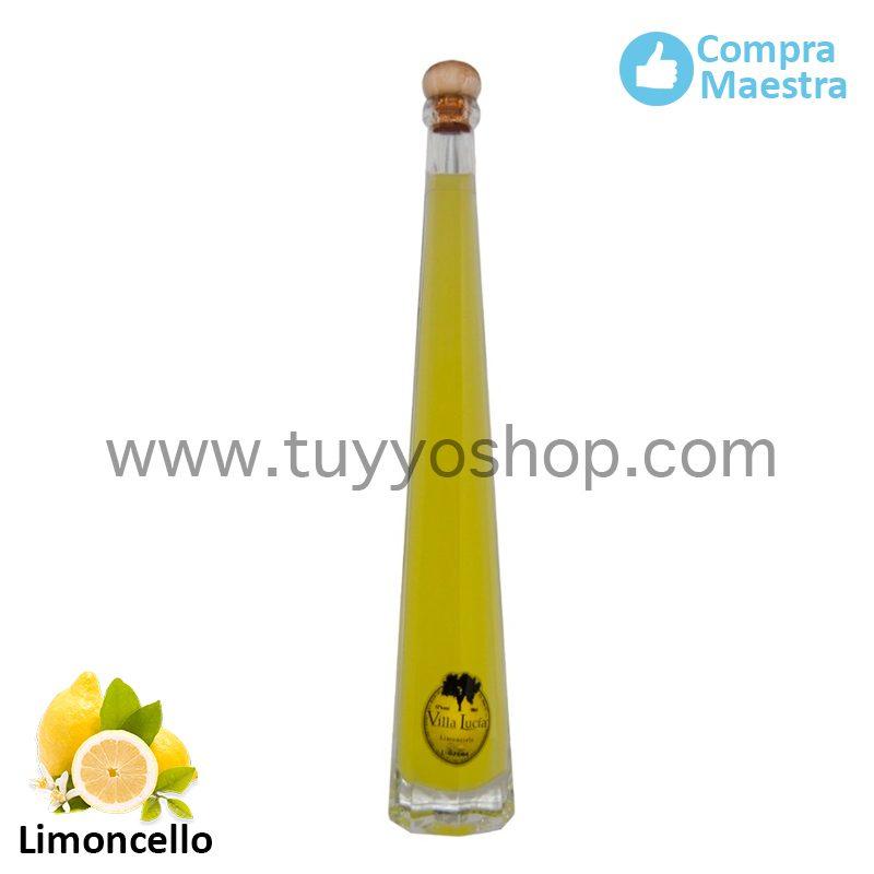 Licor de orujo Villa Lucía modelo Lobón, sabor limoncello