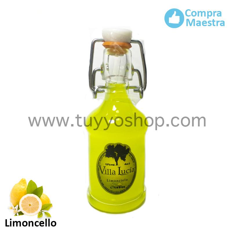 Licor de orujo para boda modelo sifón en sabor limoncello