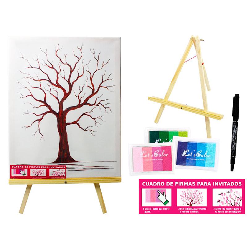 Lienzo árbol de huellas. A3. Tinta incluida. lienzo arbol de huellas a3 tinta incluida