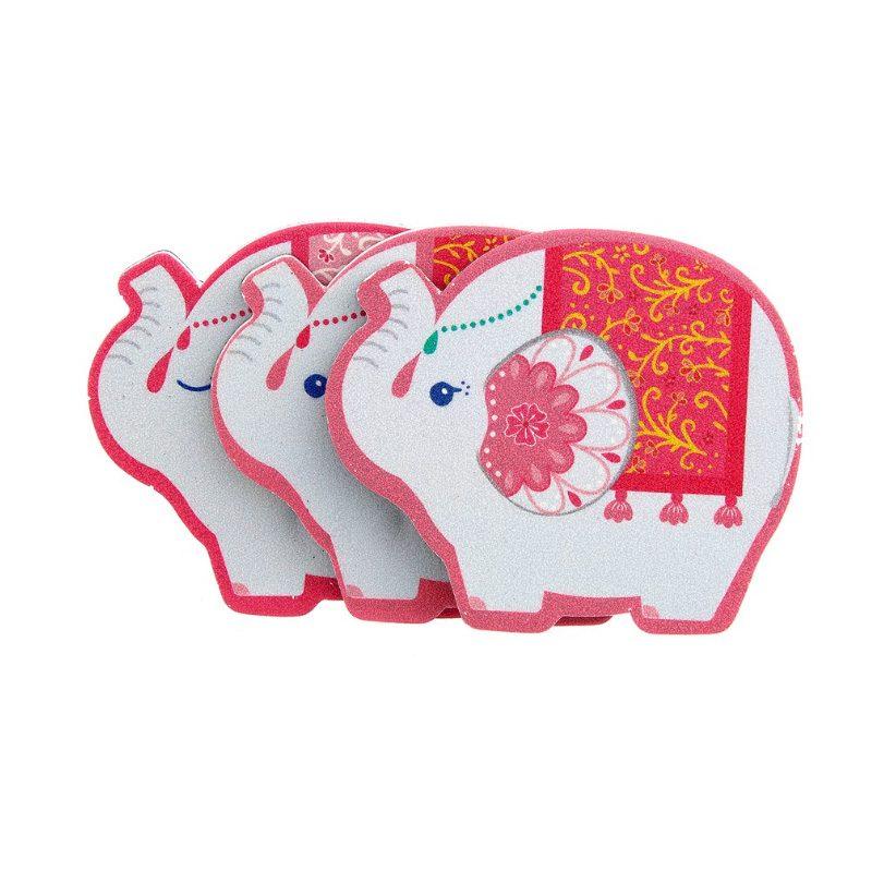 Original lima para uñas. Modelo Elefante Mandala. 2 colores. 6,5x5,4cm. lima para boda elefante mandala 2