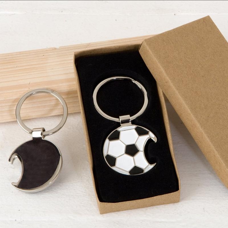 Llavero pelota de fútbol. En caja de regalo. Grabación incluida.