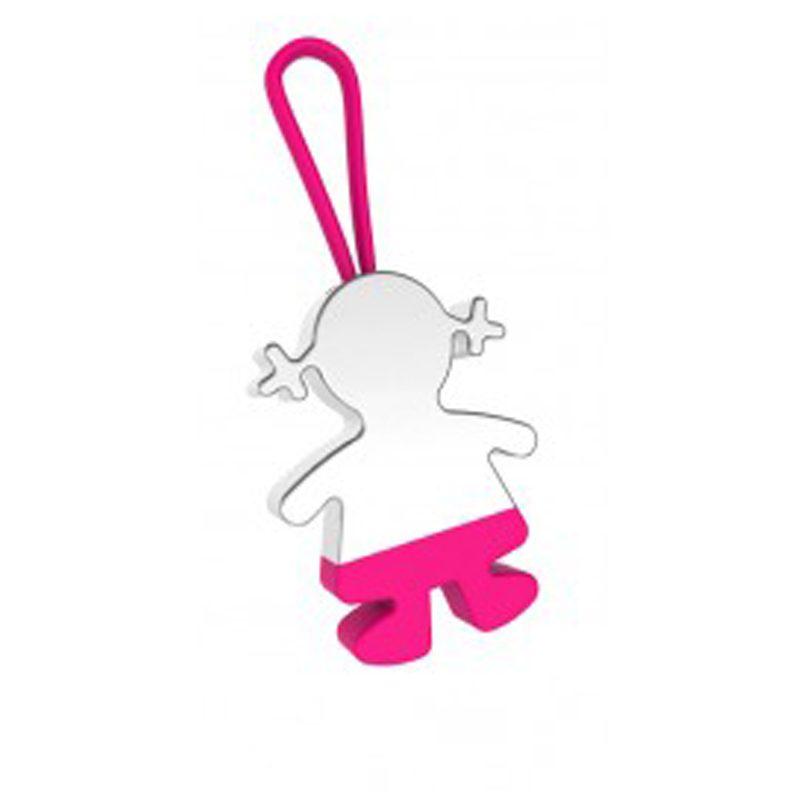 Llavero niña comunión rosa