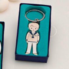 Llavero niño comunión azul modelo marinero
