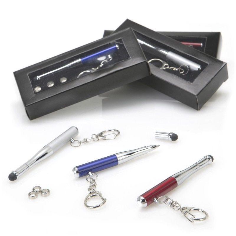 Original llavero con puntero, bolígrafo y linterna