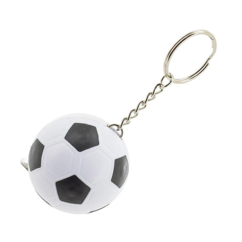 Llavero balón de fútbol con función metro. 1 metro.