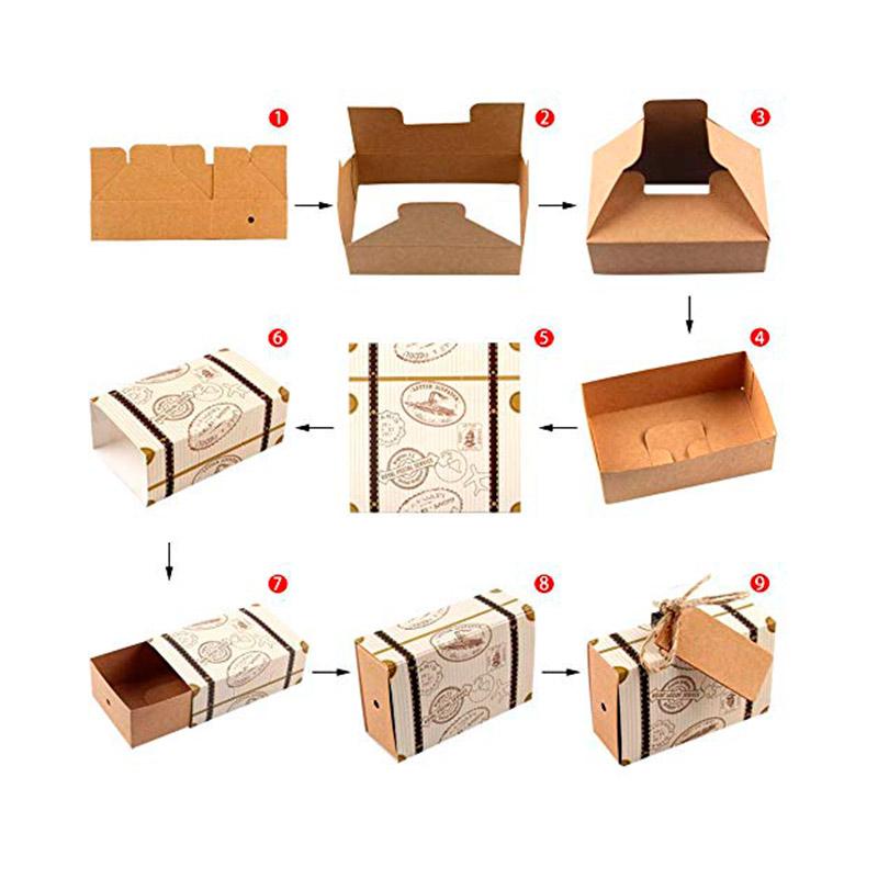 Cajita para regalo. Modelo maleta vintage. Incluye cuerda y etiqueta.