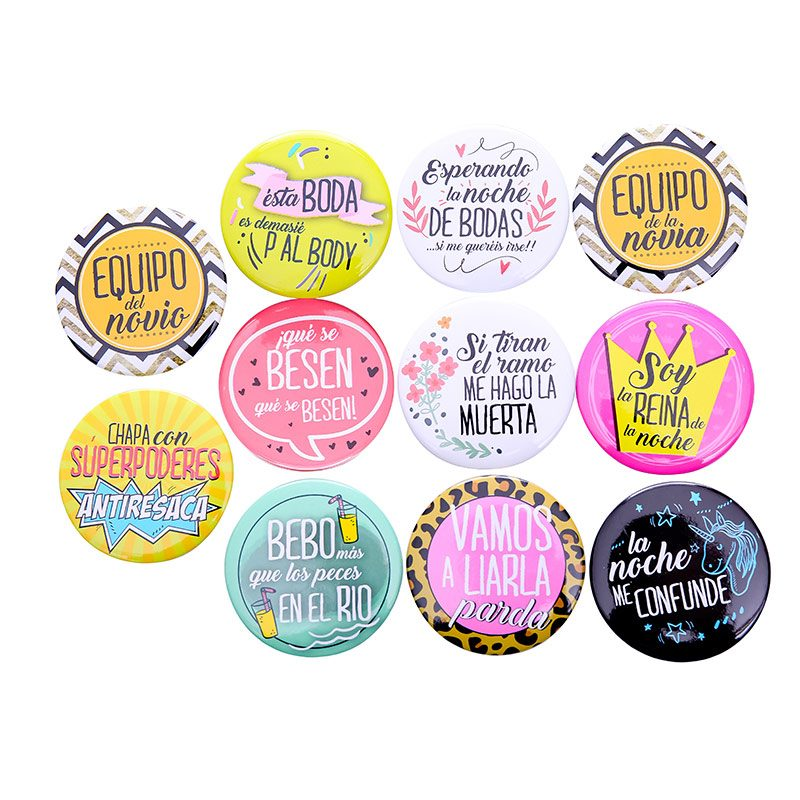 Lote de 11 chapas wedding