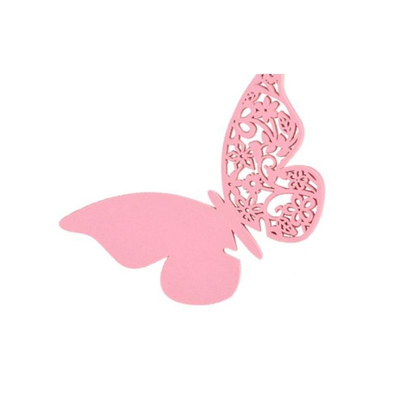 Lote 12 mariposas de papel Rosas