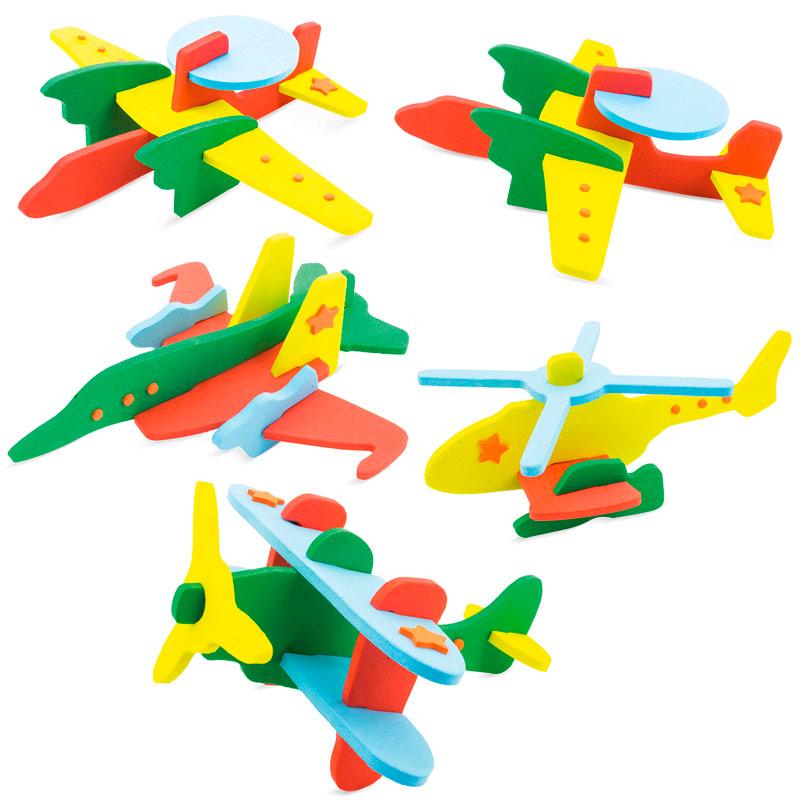 Lote 5 aviones goma eva varios colores