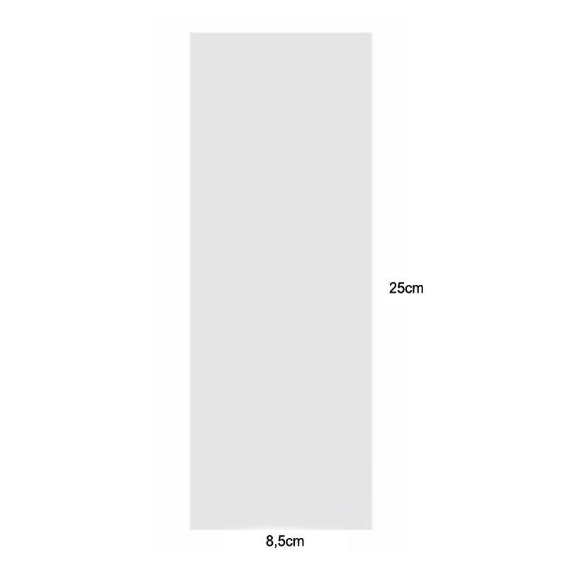 Lote 50 bolsas de celofán transparentes 8.5 x 25cm