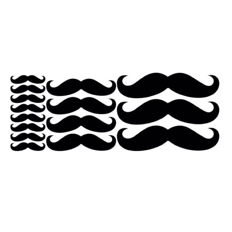 Set de 15 Vinilos en forma de Bigotes lote bigotes